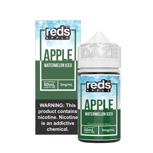 Vape 7 Daze Watermelon Reds Apple Iced (60ml)